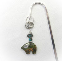 Bookmark Unakite Zuni Bear