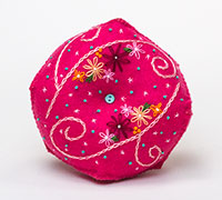 Pin Cushions - Biscornu Embroidered Felt