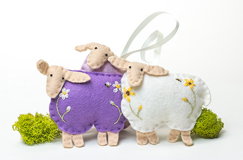 Sachets - Lavender Felted Sheep