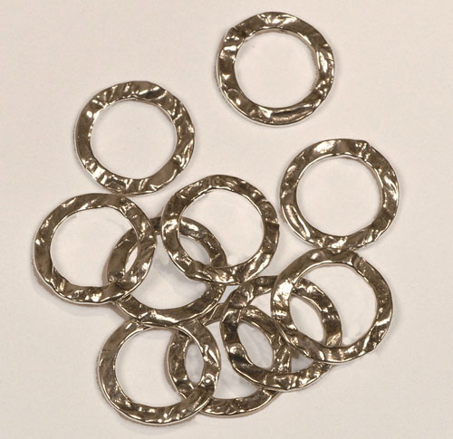 Cast Silver Hammered Rings